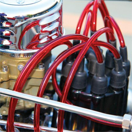 Vintage 7mm Clear Red 90 Universal Spark Plug Wire Kit on harley plug wires, vintage sportster plug wires, vintage ignition coil, 426 hemi plug wires, vintage spark coil, vintage turn signals, vintage light bulbs, lightning bug plug wires, vintage ignition wires, vintage mirrors, vintage gauges,