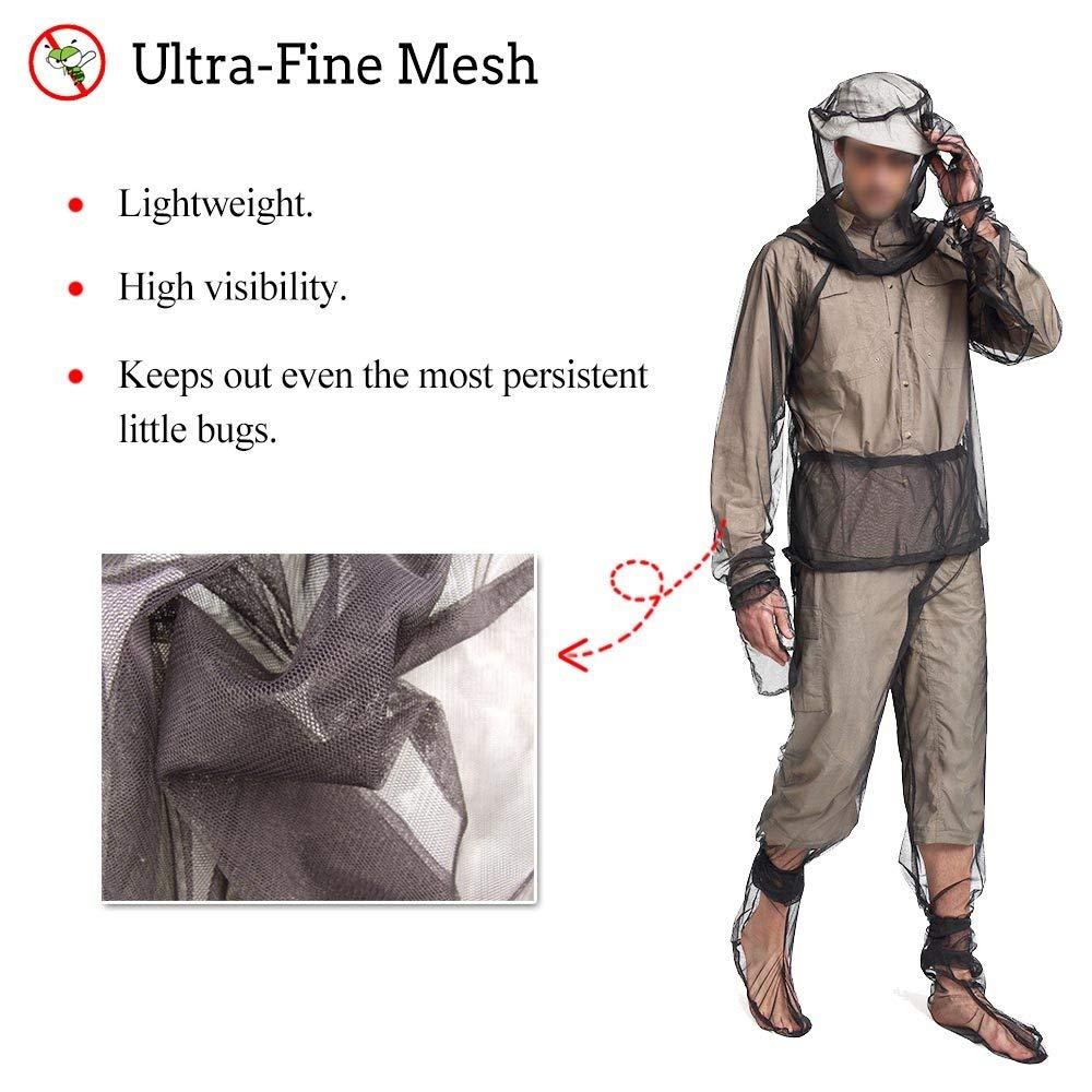 Outdoor Anti Mosquito Suit Mesh Bug Jacket Clothing Net Yarn Mitts Pants Socks