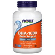 Best Dha Supplements - Now Foods DHA-1000 Brain Support, Extra Strength, 1,000 Review