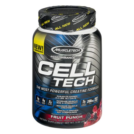 Muscletech Cell Tech Creatine Powder Fruit Punch 28