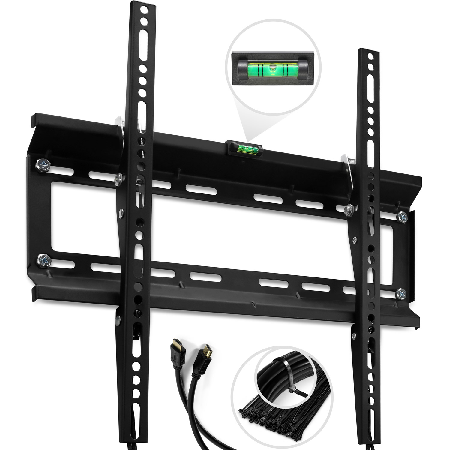 "TV Wall Mount Bracket for 20 - 47"" Support 120 lbs - 400x400 mm VESA Compliant"