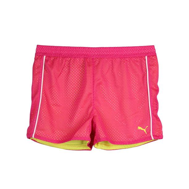 PUMA - PUMA Little Girls Active Mesh Shorts Pink Yellow White Size 5 -  Walmart.com - Walmart.com