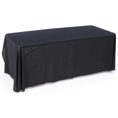 Black Table Cover for 6ft. Rectangular Table, Covers 3 Sides of a 30