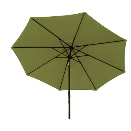 9-ft Market Umbrella with Aluminum Frame, Crank & Tilt - Green