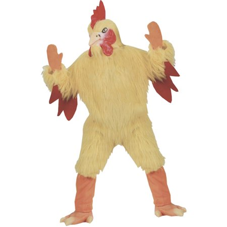 Funny Chicken Adult Halloween Costume, Size: Up to 200 lbs - One Size - Mens Funny Costumes