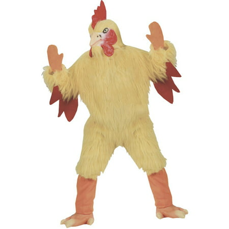 Funny Chicken Adult Halloween Costume, Size: Up to 200 lbs - One Size - Funny Halloween Parodies