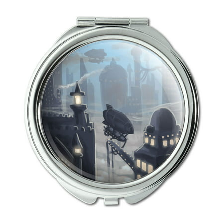 Steampunk City Zeppelin Compact Purse Mirror](Steampunk City)