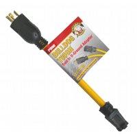 Prime 1-Feet 12/3 STOW Twist to U-Ground Adapter, Yellow