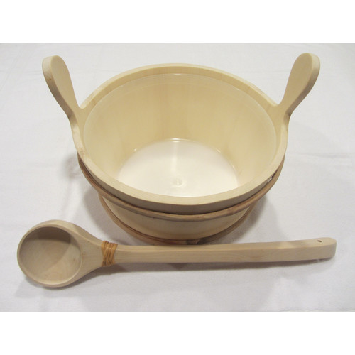 Baltic Leisure Wooden Bucket and Ladle Set with Liner