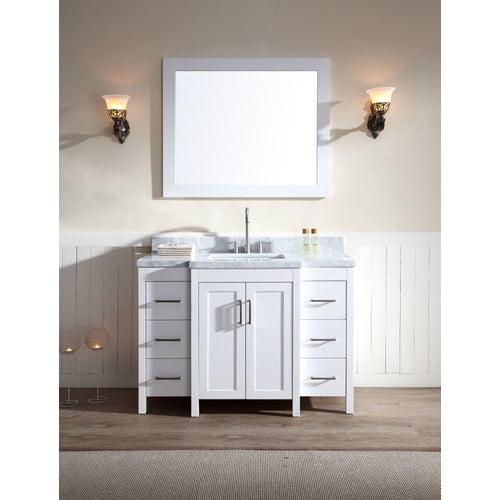 Ariel Bath Hollandale 49'' Single Sink Vanity Set with Mirror