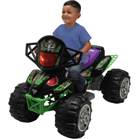 Monster Jam Grave Digger Quad 12-Volt Battery Powered Ride-On (Grave Digger Party Supplies)