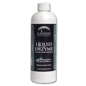 - Ginesis Liquid Enzymes, Natural Lake and Pond Cleaner and Clarifier for Water Gardens, Koi Ponds, Fish Ponds Fountains, and Water Features. Safe Chemical Alternative. 8 ounces