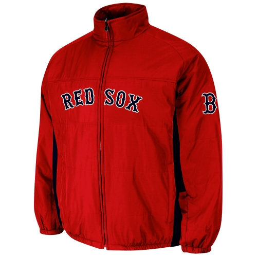 Boston Red Sox Double Climate On-Field Jacket - Red