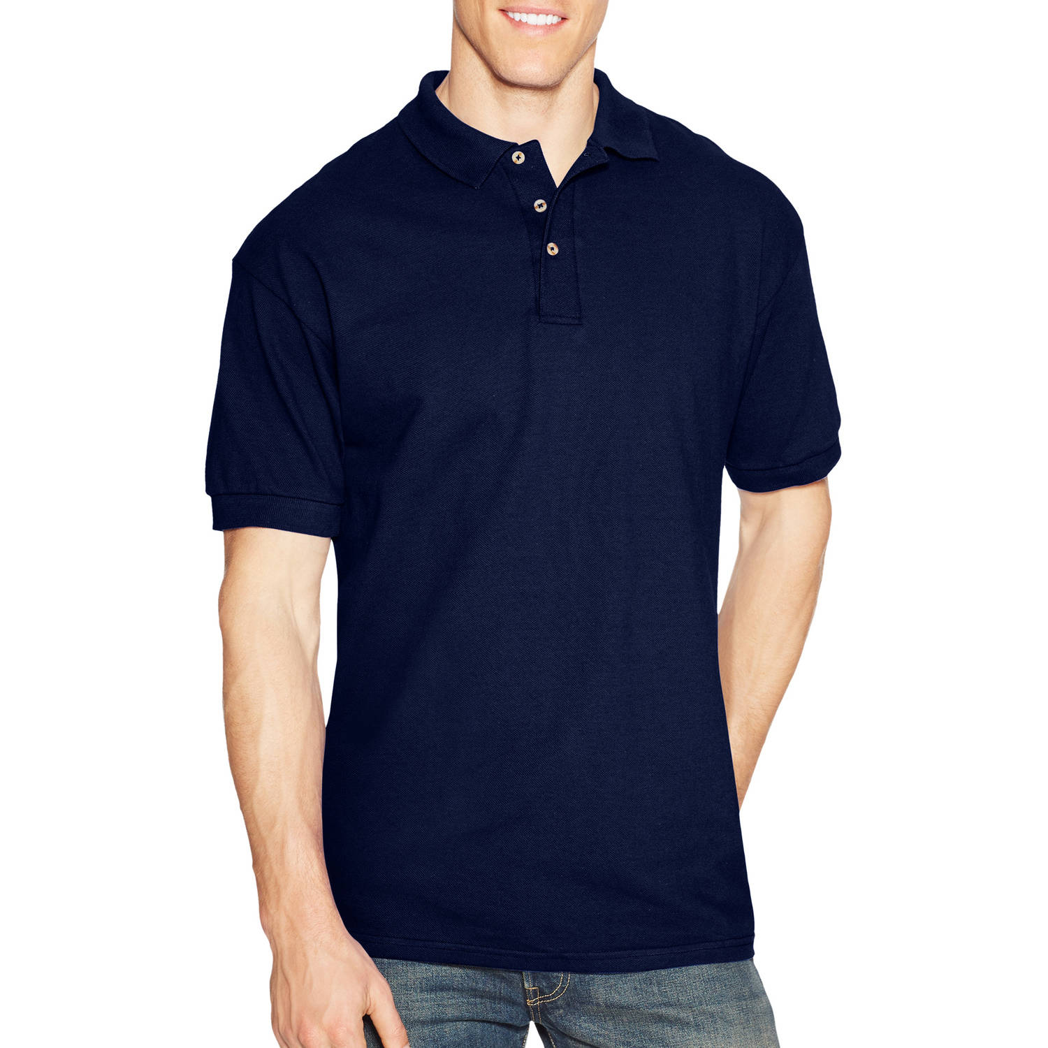 Hanes Big Men's ComfortSoft Pique Polo