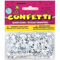 Foil Star Confetti, 0.5 oz, Silver
