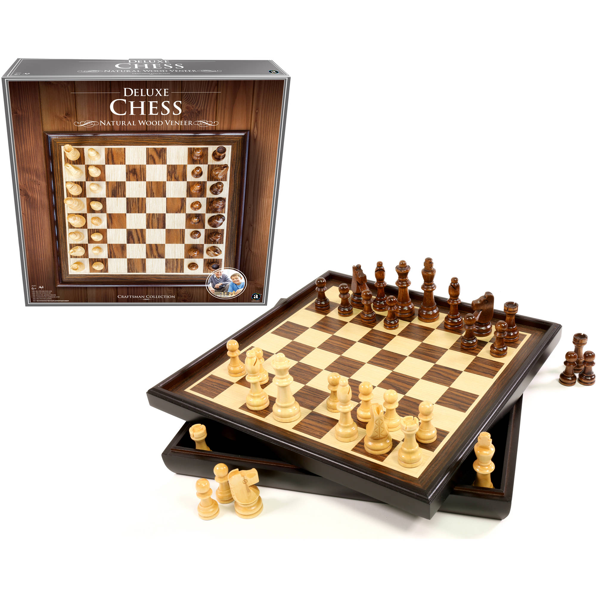 chess sets for sale craftsman wood veneer deluxe chess set 29974