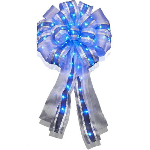 """14"""" LED Bow, Blue"""