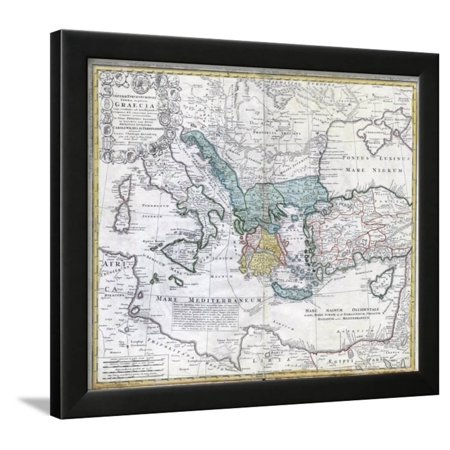 Map of the Ancient Greek World Framed Print Wall Art