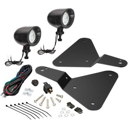 Show Chrome 41-301LBK Lower Auxiliary LED Light - Black Satin