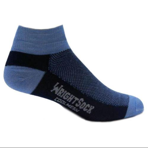 505 Double Layer Coolmesh Quarter Sock, Navy / Carolina, Small