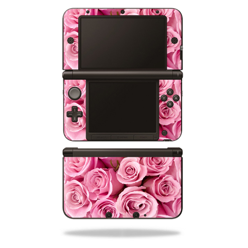 MightySkins Protective Vinyl Skin Decal Cover for Nintendo 3DS XL Original (2012-2014 Models) Sticker Wrap Skins Pink Roses