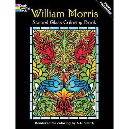 William Morris Stained Glass Coloring Book - Walmart.com
