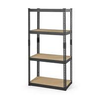 Hyper Tough 4-Level Steel Shelving System, Black