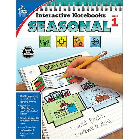 - Carson Dellosa CD-105014 Interactive Notebooks Seasonal Resource Book - Grade 1