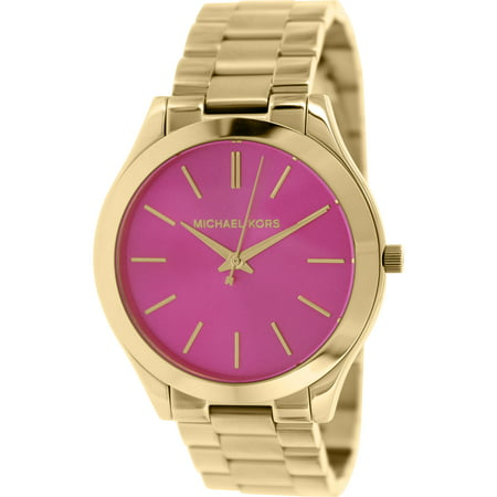 Women's Slim Runway MK3264 Gold Stainless-Steel Quartz Fashion Watch (Slim Runway Stainless Steel Watch)