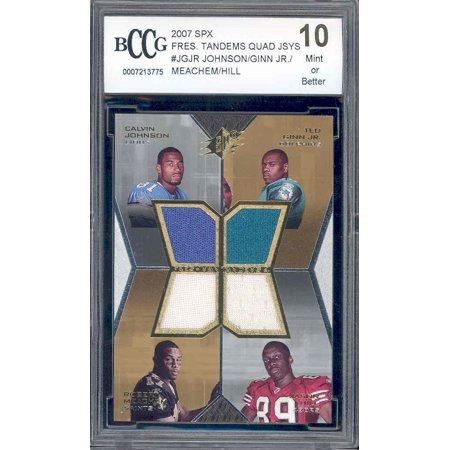 2007 spx freshman tamdems quad #jgjr CALVIN JOHNSON / GINN / MEACHEM rc BCCG 10