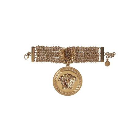 Versace Women's Iconic Gold Chain Medusa Head Charm Bracelet - Gold Bracelet Charms