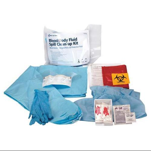 FIRST AID ONLY 746001GR BBP Bodily Fluid Kit,M Imperviuos Gown G1826286