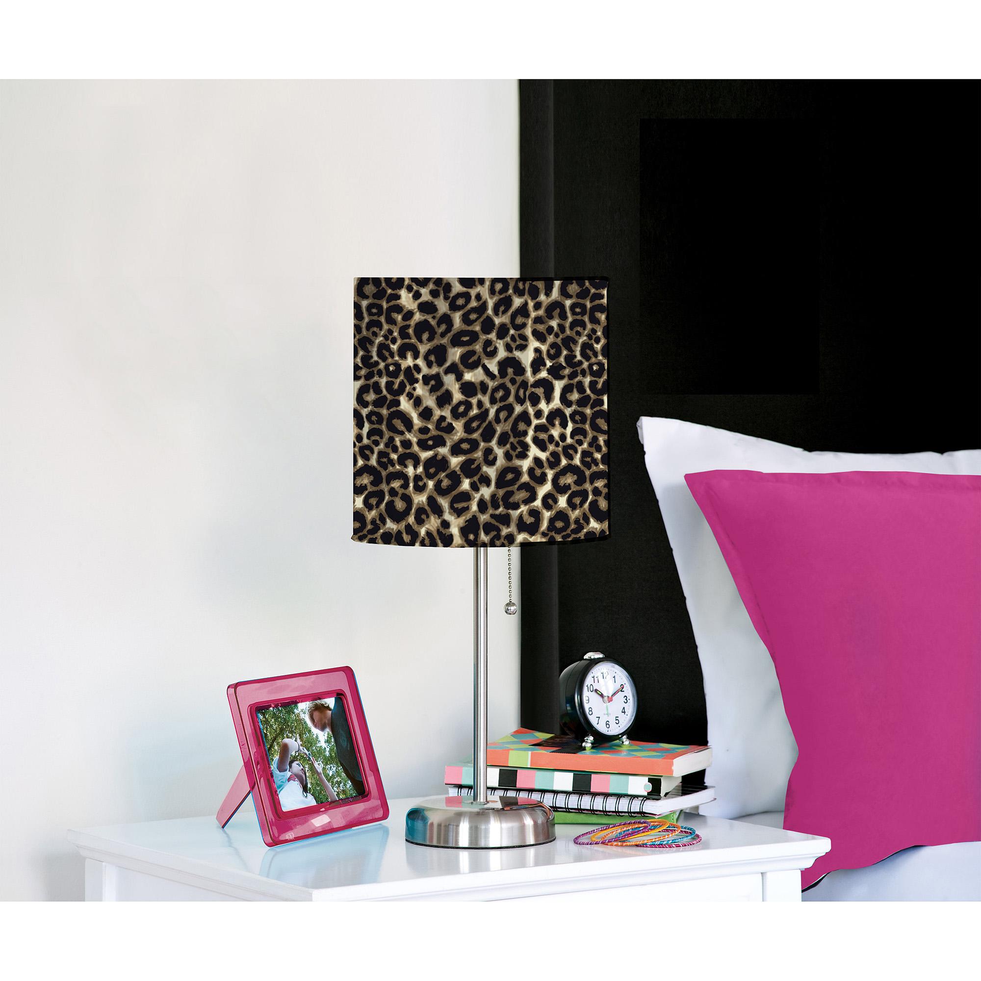 Brushstroke Cheetah Metal Stick Lamp