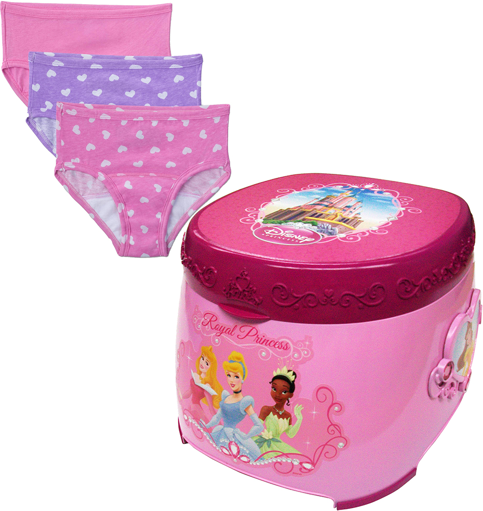 Princess 3-in-1 Potty Trainer and Potty Training Pants Value Bundle