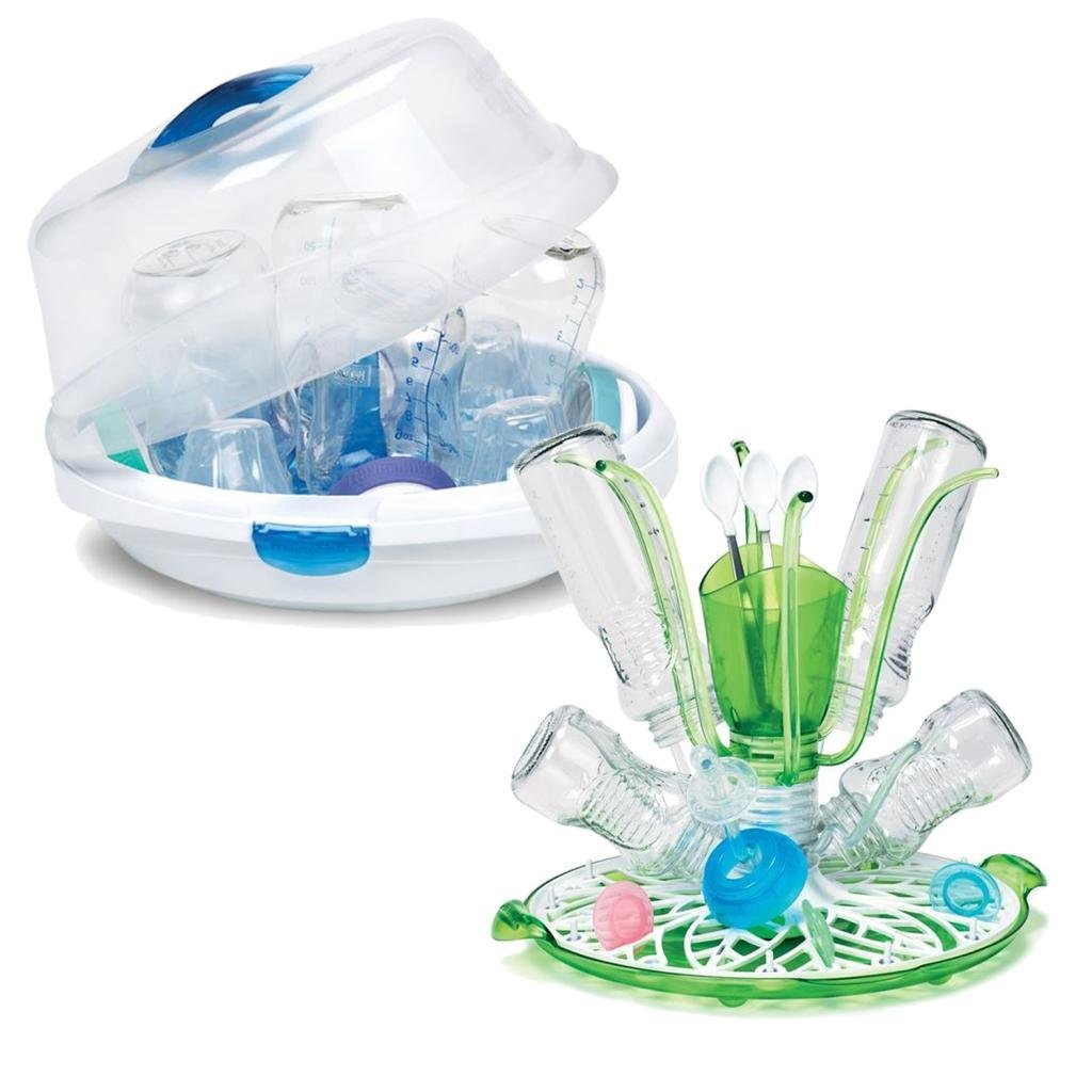 Munchkin Steam Guard Microwave Sterilizer & Sprout Drying...
