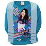 iCarly - Rainbow Stripe Girls Youth Long Sleeve T-Shirt w/ Scarf