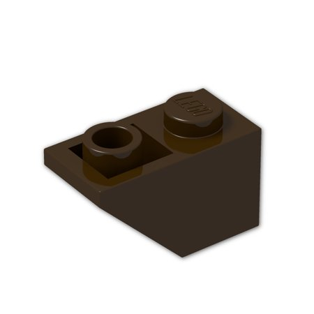 Brick Building Sets Original Lego Parts: Slope, Inverted 45º 2 x 1 (3665 - Pack of 8) (Dark Brown)