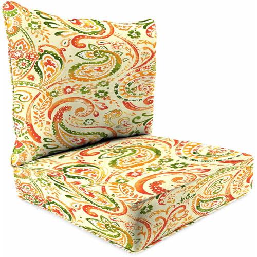 Jordan Manufacturing Outdoor Patio - 2 Piece Deep Seat Boxed Chair Cushion