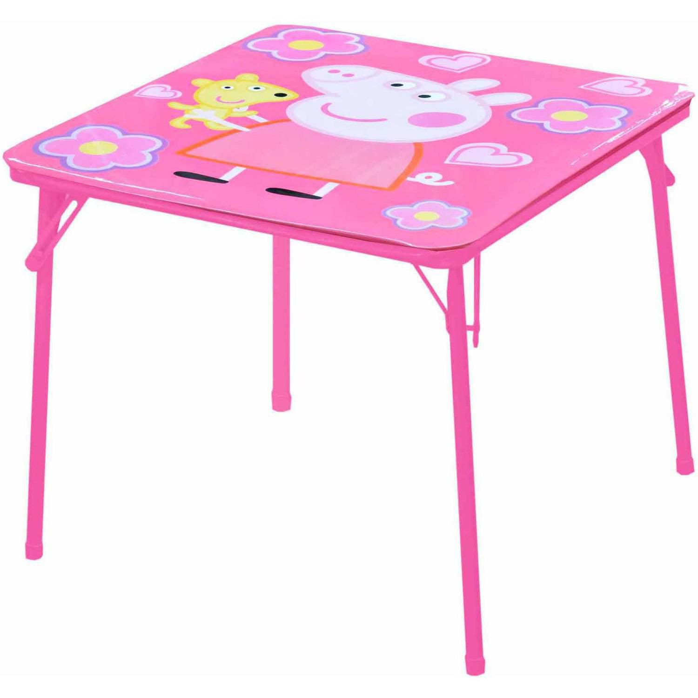 peppa pig table and chairs set walmart com