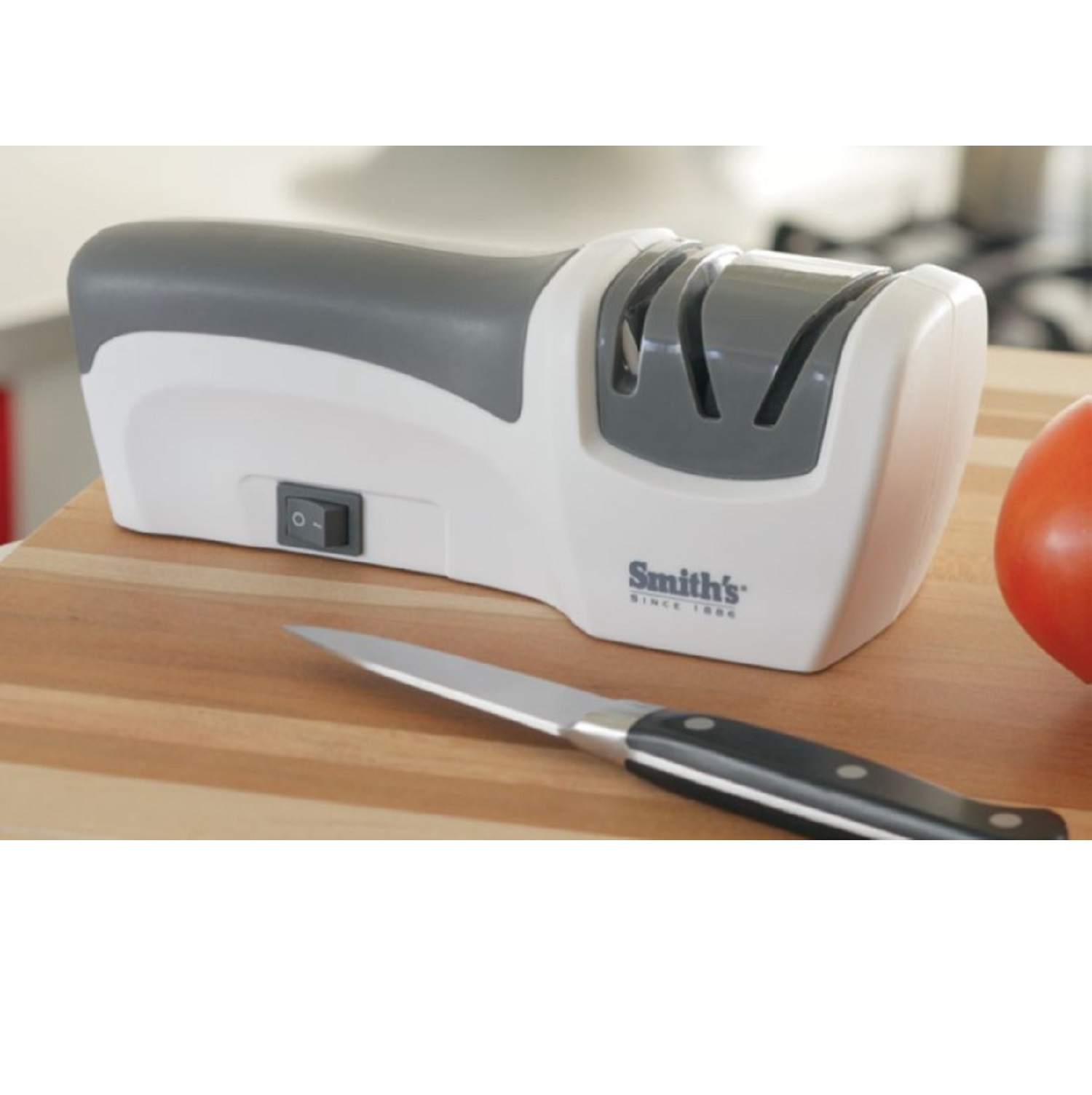 Smith Essentials Compact Electric Knife Sharpener White