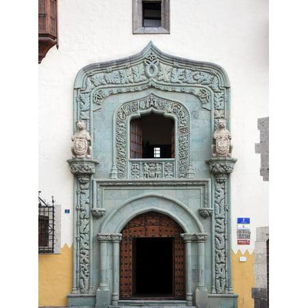 Canary Islands, Gran Canaria, Las Palmas De Gran Canaria, Vegueta, Casa Museo De Cristobal Colon Print Wall Art By Michele Falzone