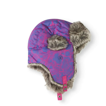 Girl's Trapper Hat, Purple (Girls Pink Cowgirl Hat)