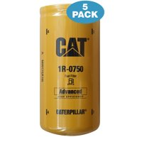 5 Pack - Caterpillar 1R-0750 Advanced High Efficiency Fuel Filters