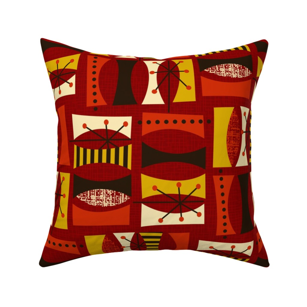 Mid Century Midcentury Modern Throw Pillow Cover w Optional Insert by Roostery