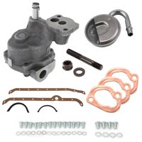 SBC Oil Pump Kit- Stock Volume Oil Pump w/ RH Dipstick Pan Gasket