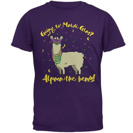 Mardi Gras Alpaca Funny Pun Mens T Shirt](Madi Gras Outfits)