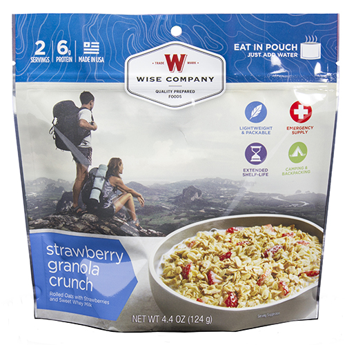 Wise Foods Outdoor Strawberry Granola Crunch SKU: 03-907