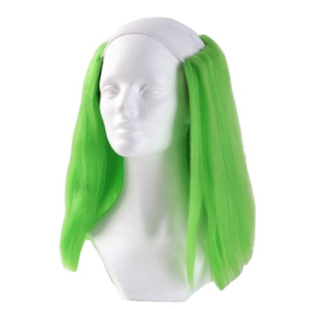 Bald Straight Clown Wig - Green - Green Clown Wig