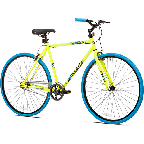 700c Kent Thruster Men's Fixie Bike, Yellow/Blue
