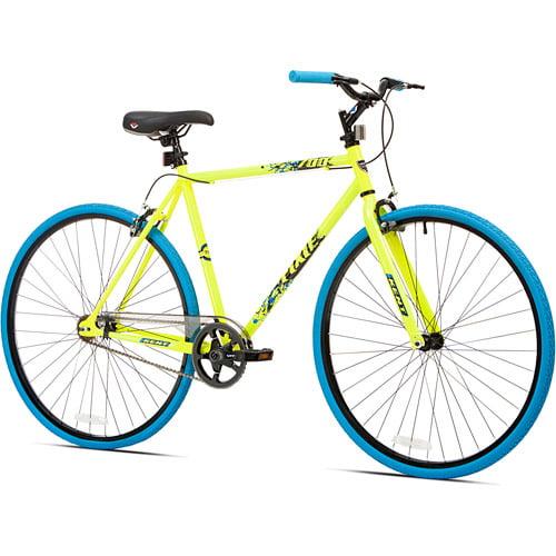 700c Kent Thruster Men S Fixie Bike Yellow Blue Walmart Com